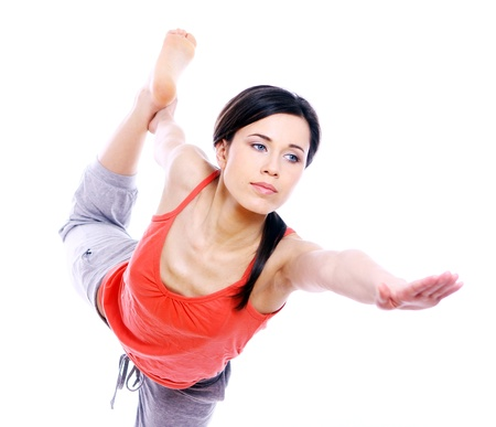 Young and beutiful woman doing yoga exercises Stock Photo - 9518517