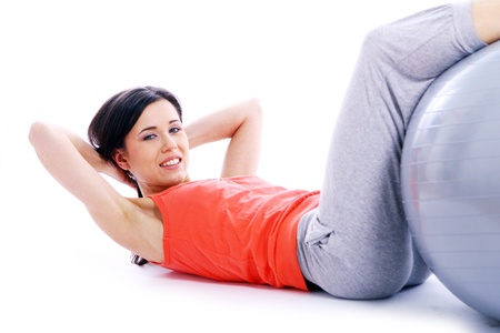 Young and beutiful woman doing yoga exercises Stock Photo - 9518530