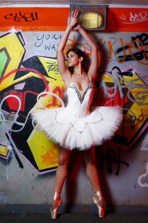 beautiful ballerina dance ballet dance Stock Photo - 9796746