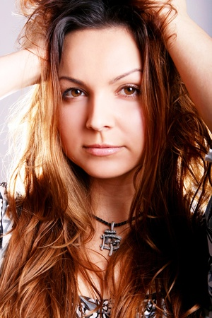 Portrait of young and beautiful woman Stock Photo - 9885824