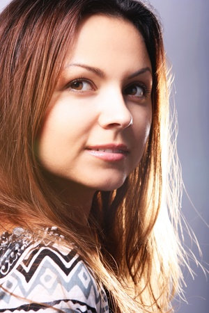 Portrait of young and beautiful woman Stock Photo - 9885876