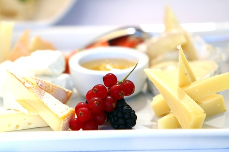 catering service: Different tasty snacks for wine on luxury banquet table Stock Photo