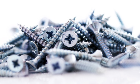 Macro of silver screws Stock Photo - 10630403