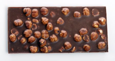 Milk chocolate with nuts photo