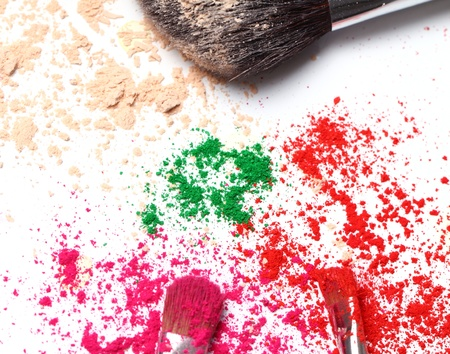 Close up of crumbled colorful eyeshadows Stock Photo - 10883652