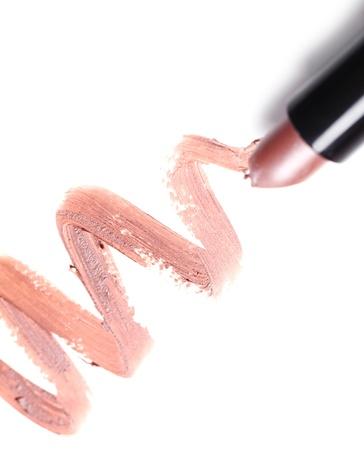 verschmieren: Close up of Lipstick mit Spurenelementen