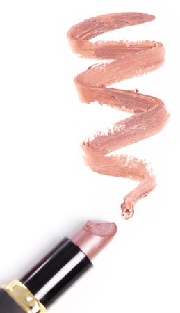 pomatum: Close up of Lipstick with trace Stock Photo