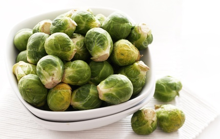 brussels sprouts: Close up of brussels sprouts in the plate