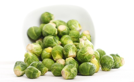 Close up of brussels sprouts in the plate