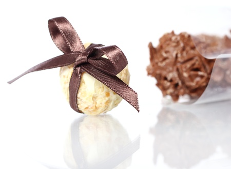Close up of chocolate candies  photo