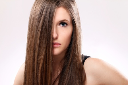 Young and Beautiful woman with long hair Stock Photo - 12009929