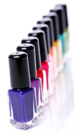 Colorful nail polish over white background Stock Photo - 11905566
