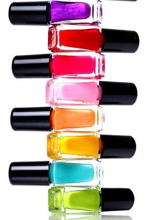 Colorful nail polish over white background Stock Photo - 11905650