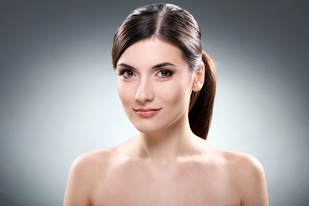 Young and beautiful brunette with clean face Stock Photo - 12010058