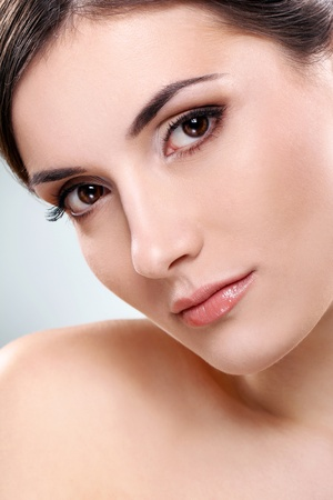Young and beautiful brunette with clean face Stock Photo - 12010048
