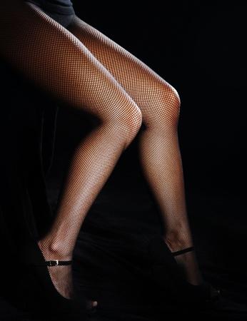 Black pantyhose legs
