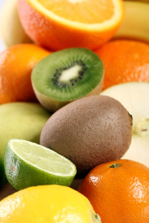 Pile of fresh and colorful fruits photo