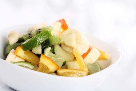 Close up of fresh fruit salad photo