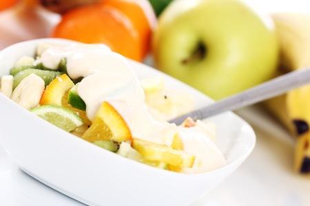 Close up of fresh fruit salad Stock Photo - 12629162