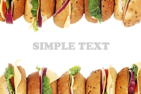 Fresh sandwiches over white background photo