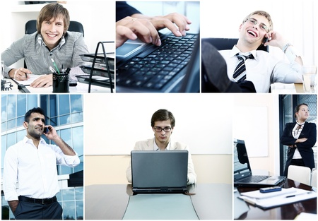 Collage of the diverse business people photo