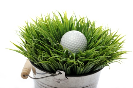 Close up of Golf ball in grass Stock Photo - 12769687