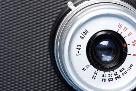 photocamera: Close up of old photocamera