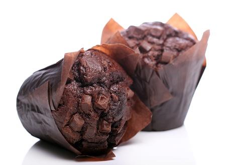 Chocolate cupcake over white background Stock Photo - 12992771