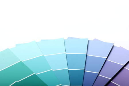 sampler: Close up of pantone color palette