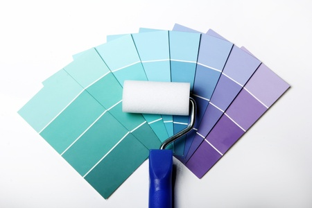 Close up of pantone color palette and roller Stock Photo - 12992719