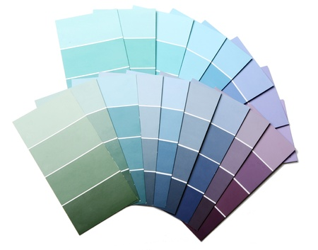 Close up of pantone color palette  photo