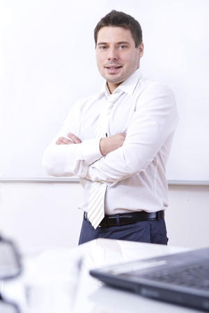 Young businessman in his office Stock Photo - 13235131