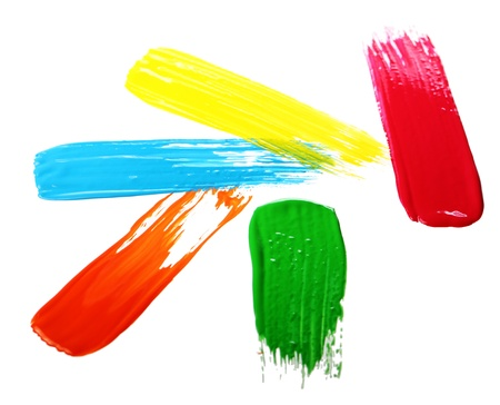 Samples of colorful paint over white background Stock Photo - 13137483