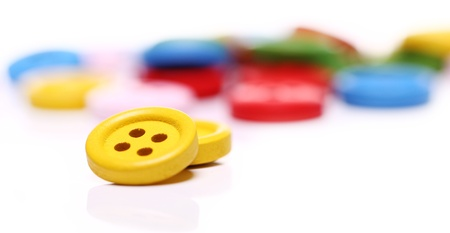 Close up of many colorful buttons photo