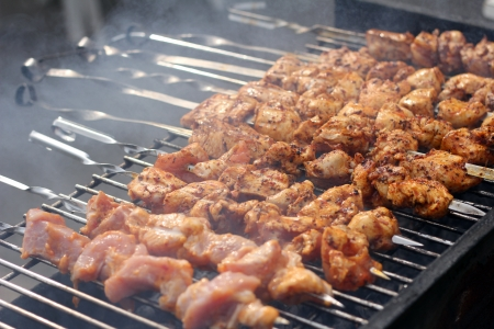 Fresh meat prepared on the charcoal Stock Photo - 13800836