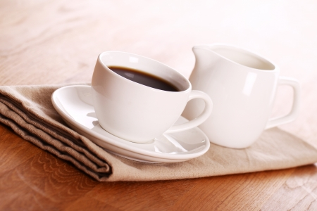 Cup of hot black coffe Stock Photo - 13800411