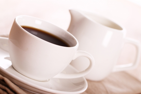 Cup of hot black coffe Stock Photo - 13800240