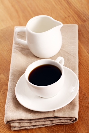 Cup of hot black coffe Stock Photo - 13800772