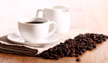 Cup of hot black coffe Stock Photo - 13800241