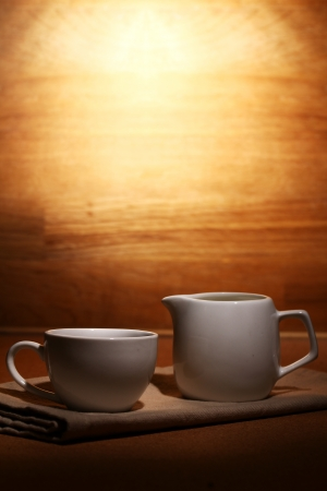 Cup of hot black coffe Stock Photo - 13800501