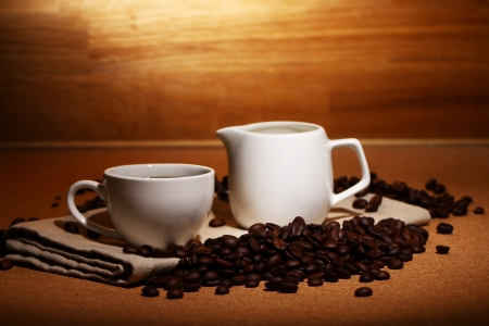 Cup of hot black coffe photo