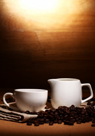 Cup of hot black coffe Stock Photo - 13800435