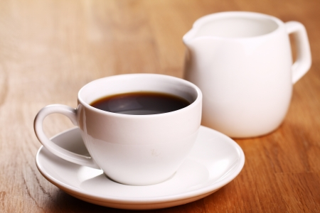 Cup of hot black coffe Stock Photo - 13800536
