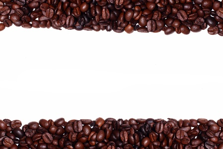 Close up of coffee beans with copyspace Stock Photo - 13800419
