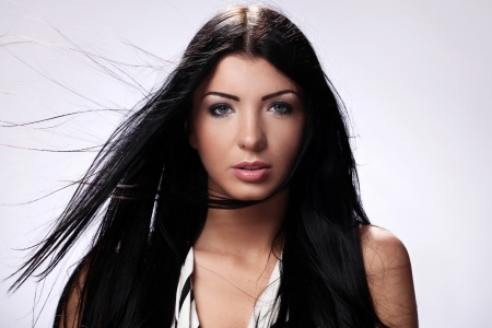 Portrait of beautiful brunette with long hair Stock Photo - 14780774
