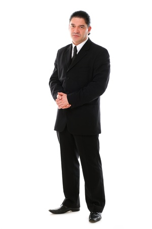 Confident mid aged man in suit posing in studio over a white background Stock Photo - 16832668