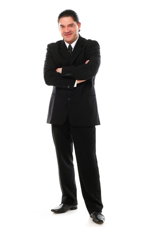 Confident mid aged man in suit posing in studio over a white background Stock Photo - 16832696