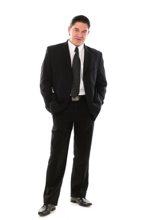 Confident mid aged man in suit posing in studio over a white background Stock Photo - 16832708