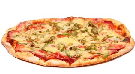 Image of fresh italian pizza isolated over white background Stock Photo - 17110702
