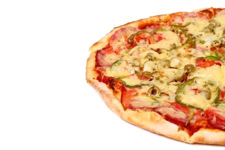 Image of fresh italian pizza isolated over white background Stock Photo - 17110758